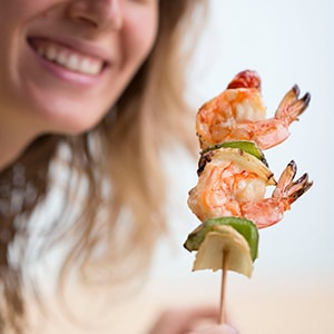 Shrimp have critical nutrients for hair and brain health