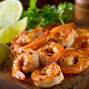 Omega 3 and 6 are critical for wellbeing and shrimp are a great source