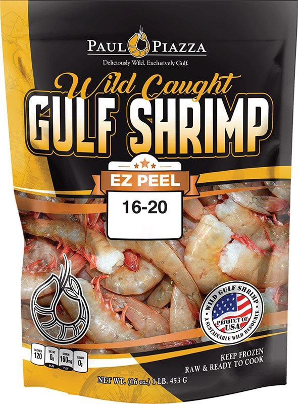Wild Caught Gulf Shrimp <span>EZ</span> Peel Packaging