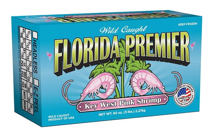 Florida Premier Wild Caught Gulf Shrimp Packaging
