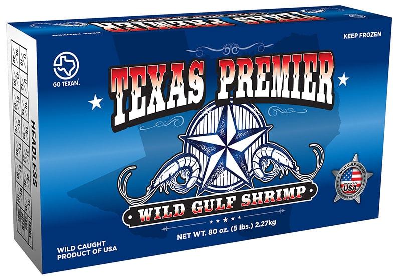 Texas Wild Caught Gulf Shrimp Packaging