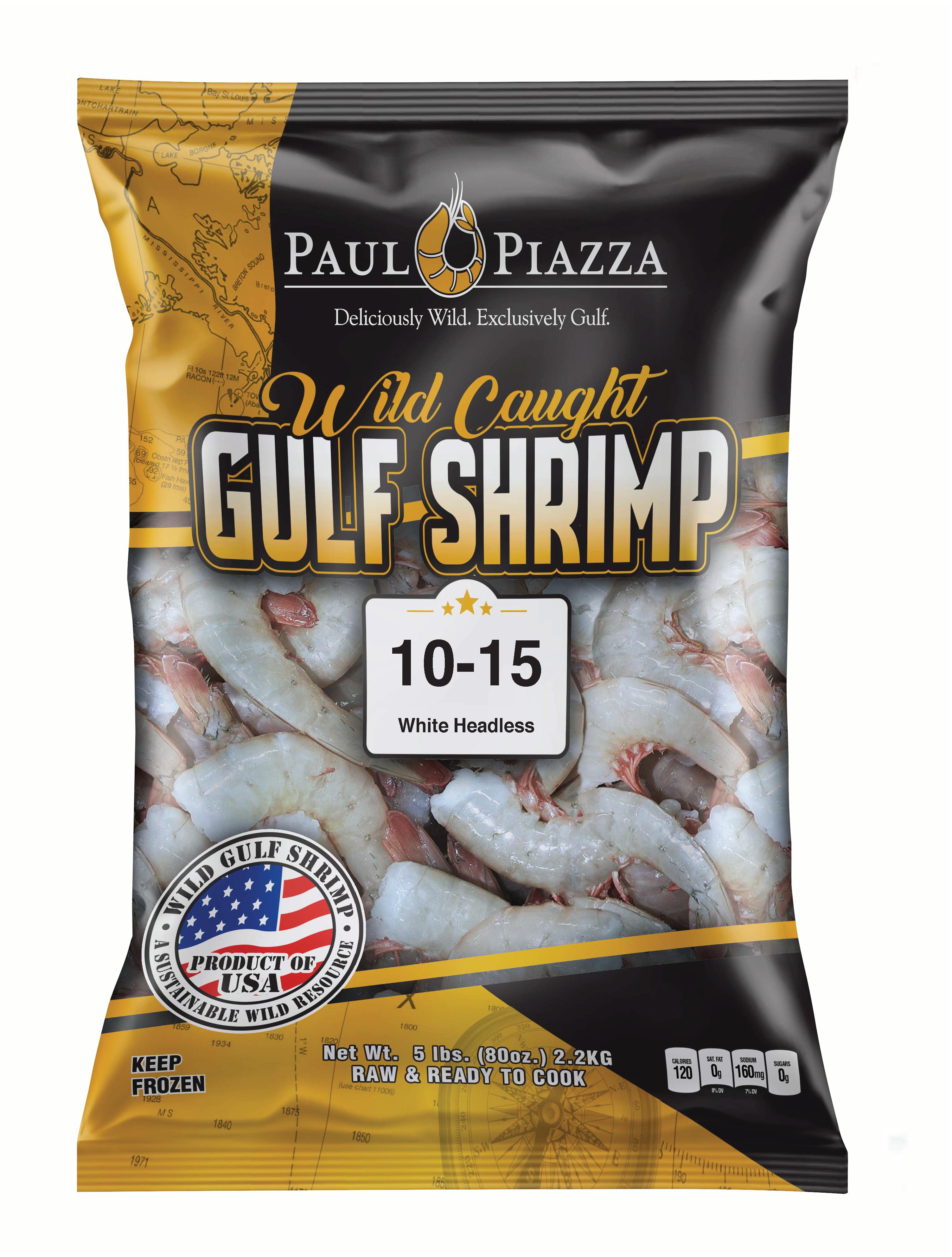 Wild Caught Gulf Shrimp Packaging