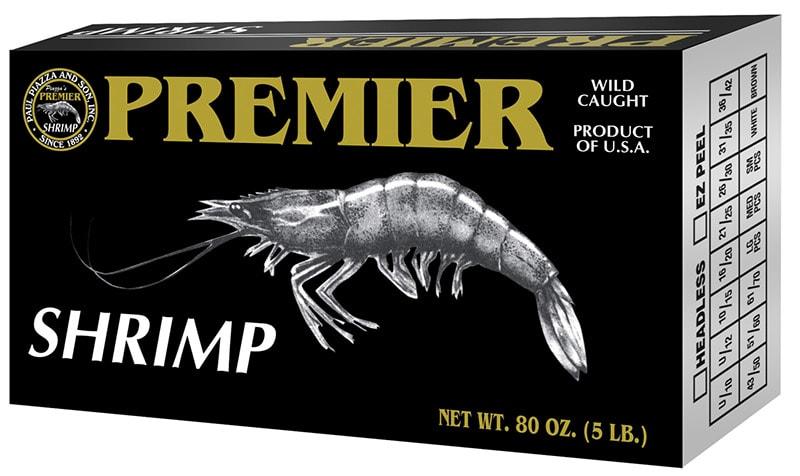 Premier Wild Caught Gulf Shrimp Packaging